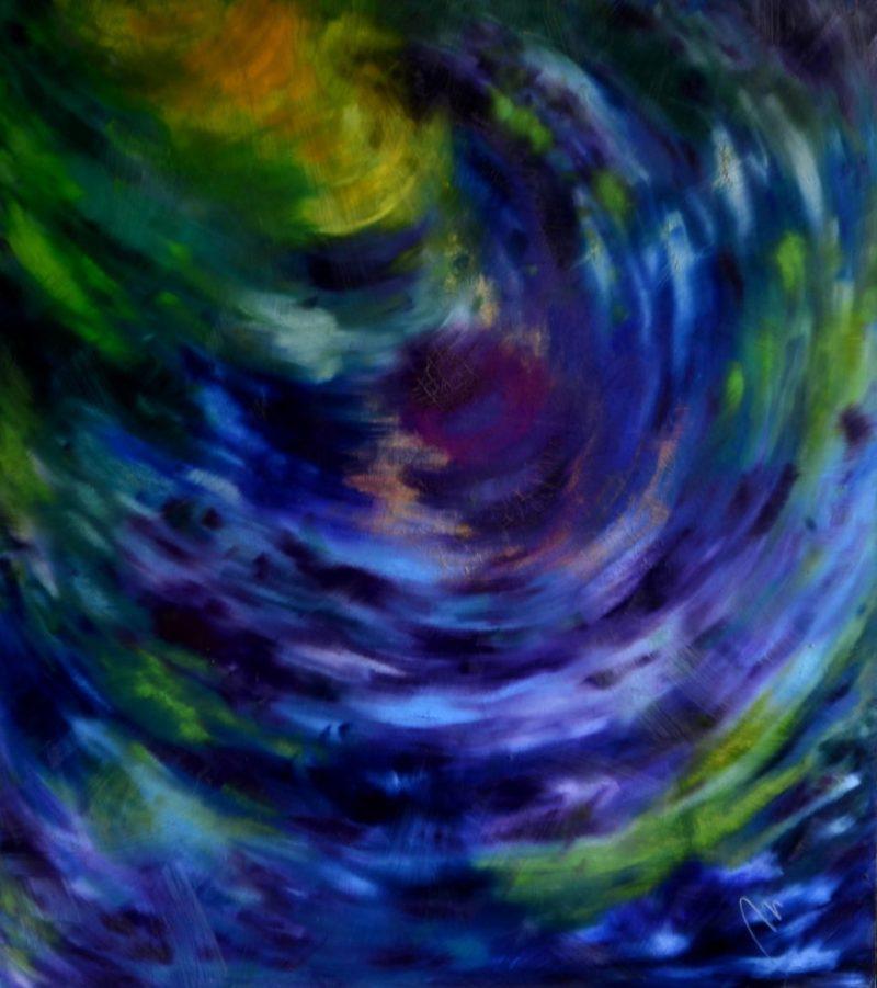 21 - Tajemství - olej na sololitu - 138 x 123 cm - r. 2008