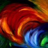 Smích - olej na sololitu - 140 x 110 cm - r. 2007