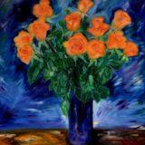 Růže pro Nellu - olej na sololitu - 138 x 103 cm - r. 2013