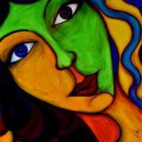 Bohyně Isis - akryl na plátně - 100 x 100 cm - r. 2014