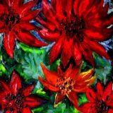 Velké květy - olej na plátně - 60 x 50 cm - r. 2007