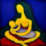 Bohyně plodnosti - akryl na plátně - 100 x 100 cm- r. 2013