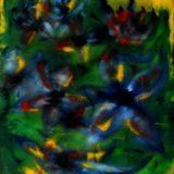 Květiny - olej na sololitu - 60 x 45 cm - r. 2007