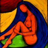 Bohyně hravosti - akryl na plátně - 70 x 50 cm - r. 2013