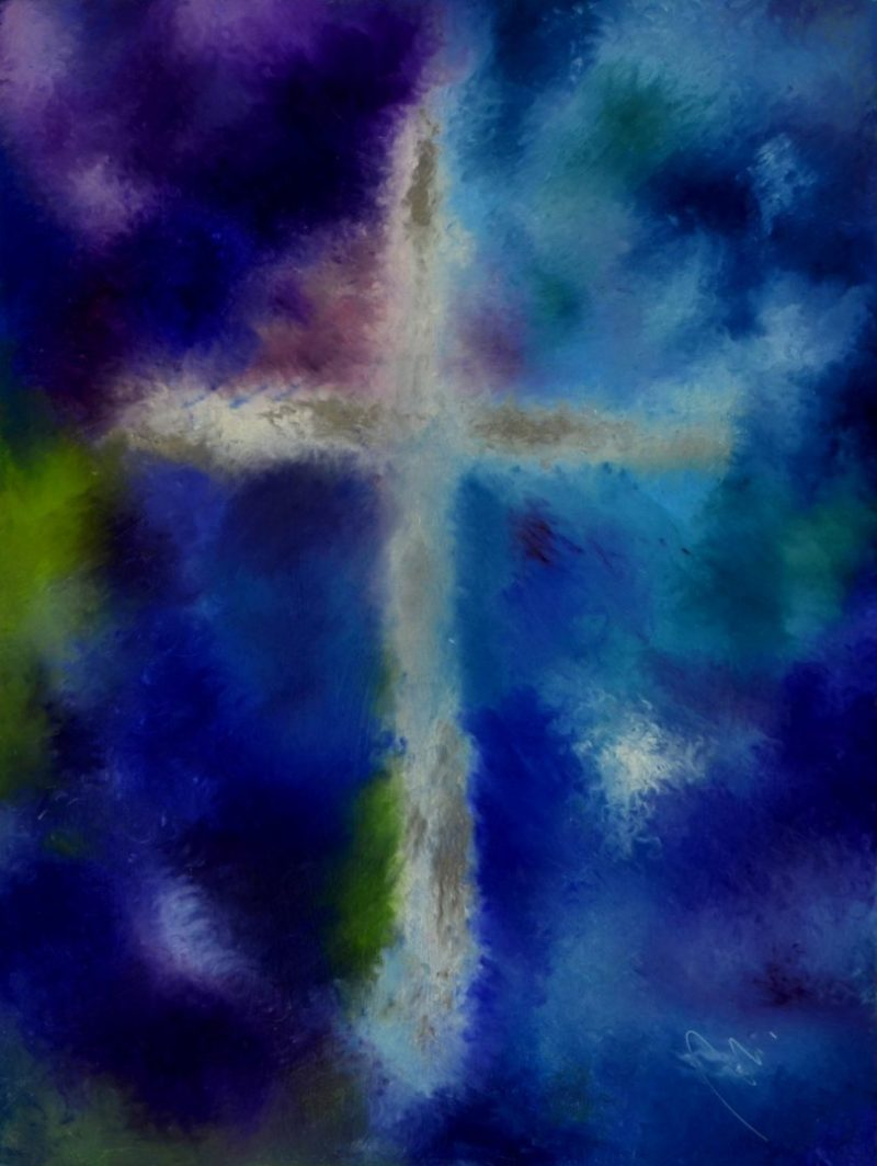 Požehnání - olej na sololitu - 137 x 103 cm - r. 2008
