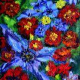 Kytice - olej na sololitu - 65 x 50 cm- r. 2007