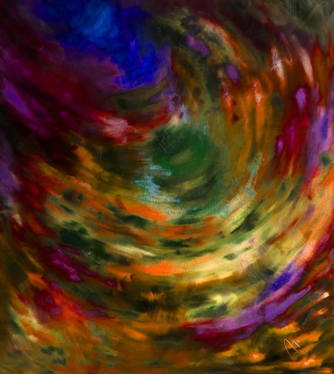 Tajemství - olej na sololitu - 138 x 123 cm - r. 2008, barva 4