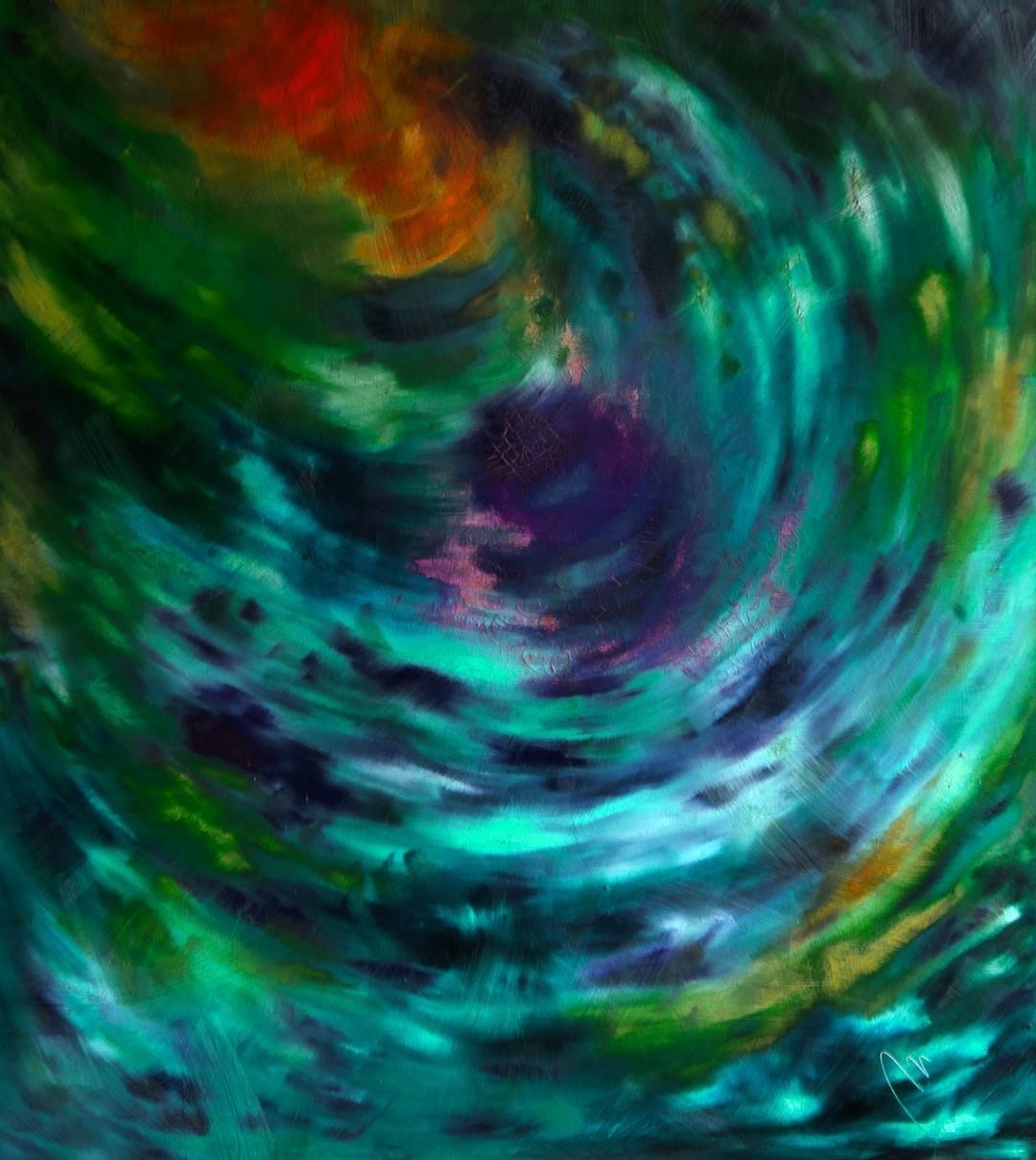 Tajemství - olej na sololitu - 138 x 123 cm - r. 2008, barva 5